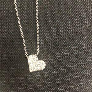 Lia Sophia silver heart necklace